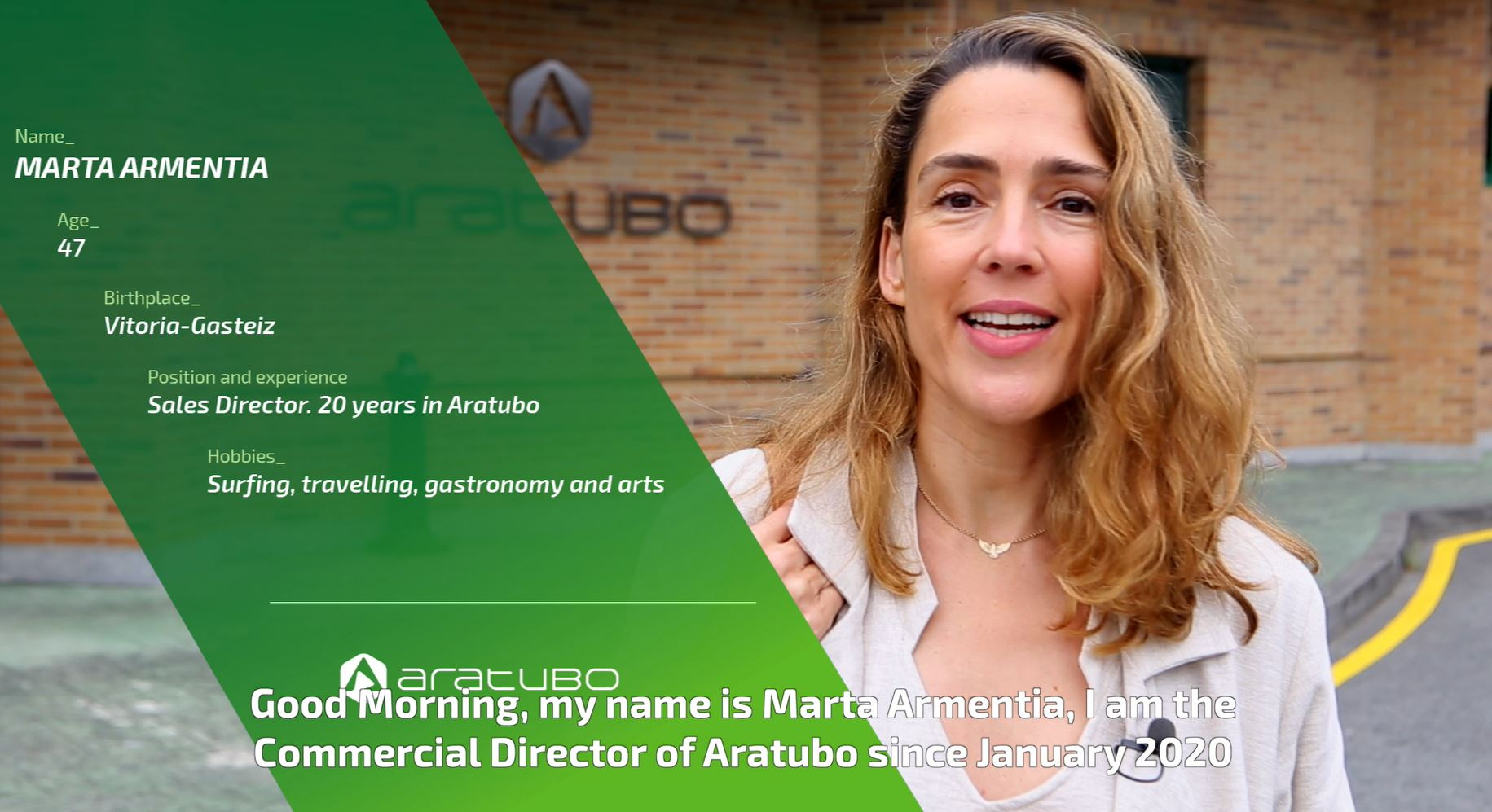 Marta Armentia - Directora Comercial de Aratubo