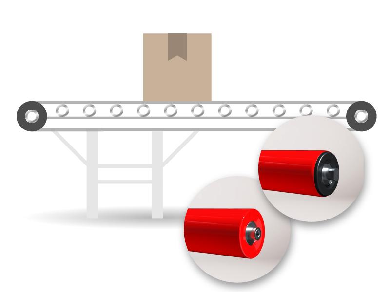 Transportador de rodillos de banda
