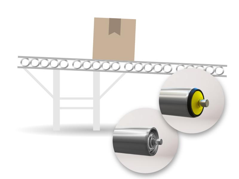 Transportador de rodillos por gravedad