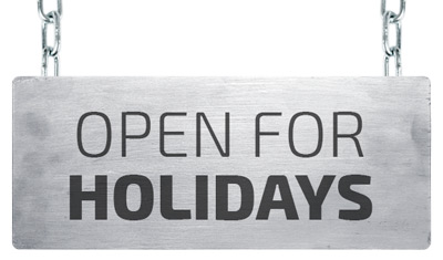 Open for holidays